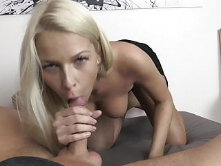 Sexy Blonde Escort wins Pussy filling