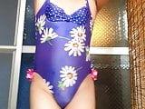 crossdresser One piece swimwear