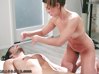 She Rides Her Client So Hard During Massage With Cumshot