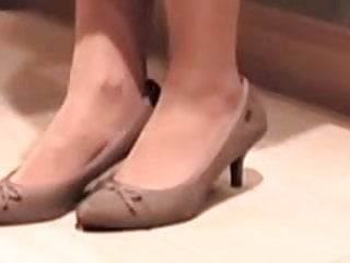 nylons and shoes in the kitchen video