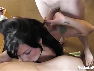 Hot Gina Fest Bukkake Facial Jameson Takes Cum