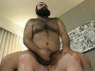White chub fucks brown bear