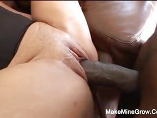 Whore gets big dick pounding...