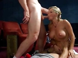 Vicky Vette - Hot Threesome in a Cinema