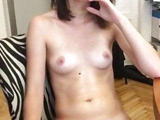 hot  brunette shows off petite bodyHD Sex Videos