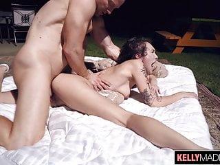Punky Slut Emily Blacc Creampied In The Backyard