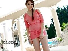 Lovely hottie Rebecca Volpetti is so into masturbating wet
