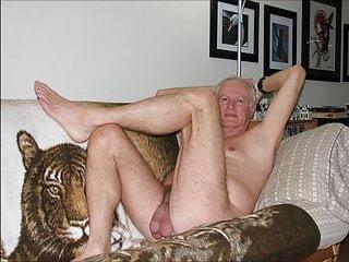 Naked oldies sitting...