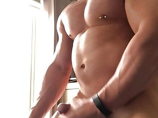 Perfect muscle show cock in quarantine session