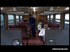 Hot Melissa Black in train for private.com