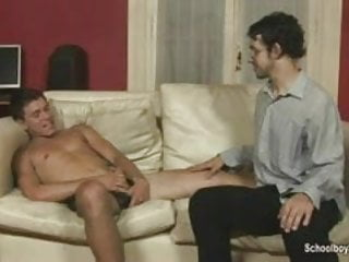 Artsy twink pleases his older lover...