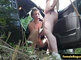 Public british babe pussypounded by passenger