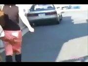 Undressing women on street L7