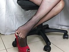 Sexy High Heels and Fishnet Nylon