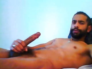 Hot Arab Guy Jerks His Big Cock And Lets His Cum Flow