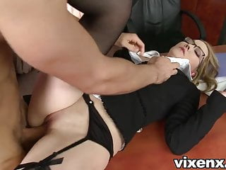 Bad secretary punished with spanking and anal sex
