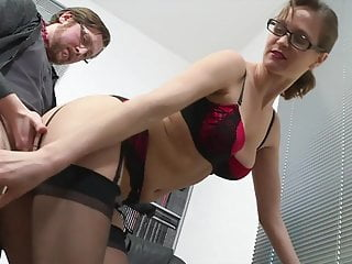 Elise Fucks With Her Boss In Office