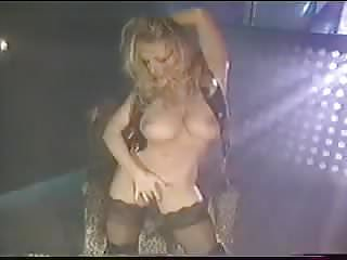 Leather strip dance...