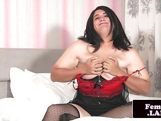 Chubby sensually masturbating...