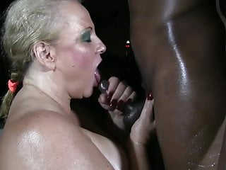 Granny Worships BBC Body with Hot Oil
