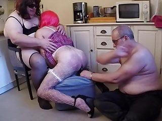 Big dildo and hard spanking
