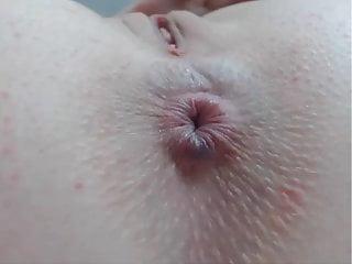 Sexy cheeks anus pussy close up...