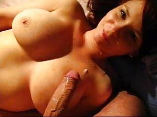 German girl masturbates and swallows cum from boyfriend