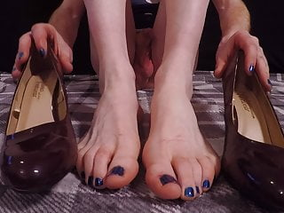 Tranny sexy feet cock and ass close up...