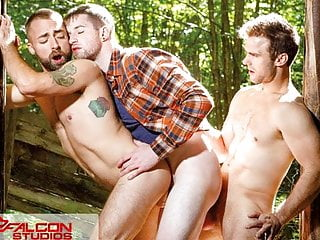 FalconStudios – Steamy Worker Joins Gay Couple In Fuck Train