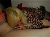 Wendy leopard dress blowjob
