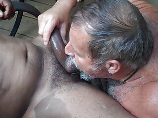 Young black cock for Daddt Bear.