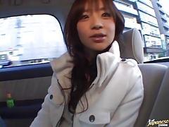 Hot milf Aimi in a car sex scene fucks and gets vibrator in