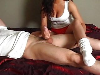 Hooters Girl Sock Job