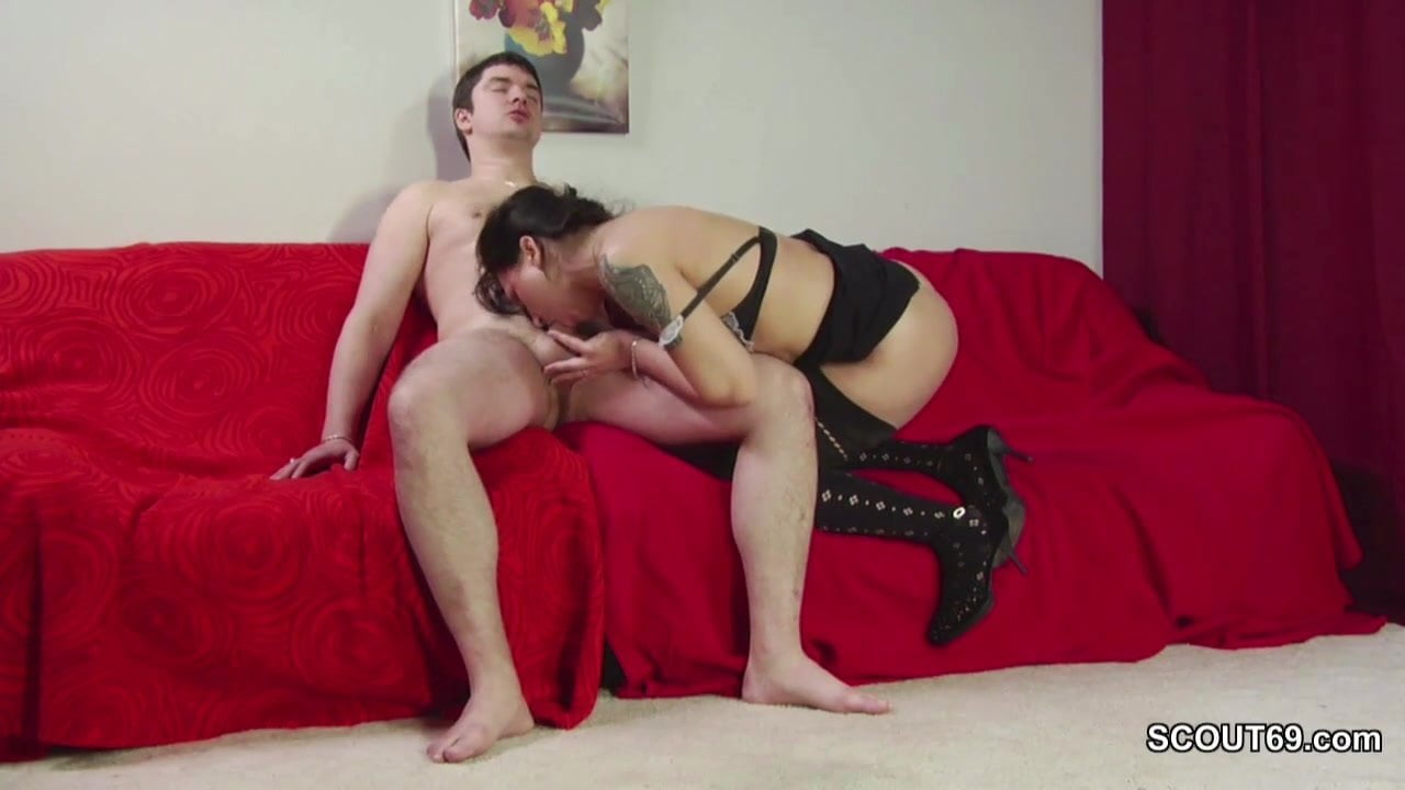 18yr old Step-Son Caught Mom Masturbate and Helps with Fuck