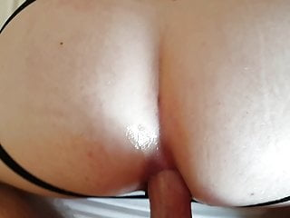Getting fucked bareback in hotel bed