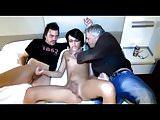 Crossdresser with 2 guys
