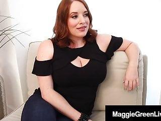 Mega Tits Maggie Green StrapOn Fucked By BBW Angelina Castro