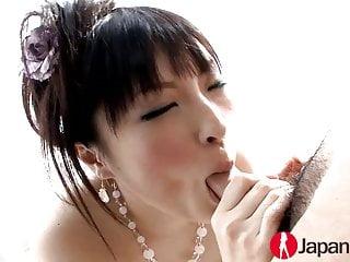 Kinky JAV hot mom sucking a deep dick