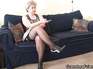 sides Granny penetration double from both