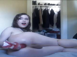 Gorgeous Pale Skin Trans Girl Pleasure Herself with Dildo