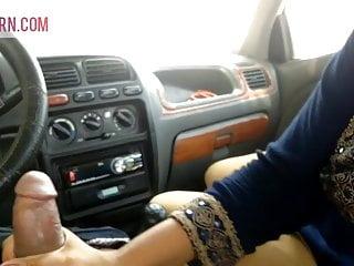 Desi Indian Bitch Surbhi fucked in boyfriend's automobile