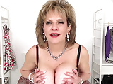JOI from Lady Sonia while she tit fucks a dildo