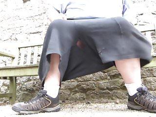 Flashing panties and cock...