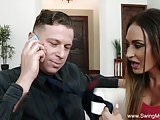 Amateur Housewife 1st Time Swinger
