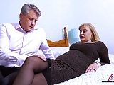 AgedLovE Busty Blonde Fucking Bussinesman Hard