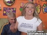 Fit all natural blonde beauty Samantha Saint is played with