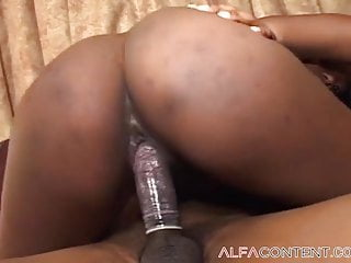 Busty black slut enjoys being smashed from behind