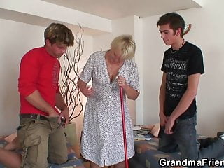 penetration Very old double granny blonde