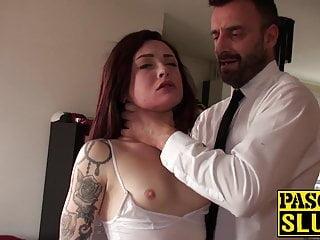18yo slut chloe carter choked with hands and...