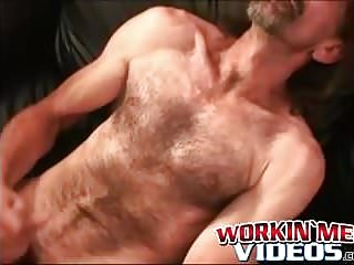 Sexy older guys jerking off and enjoying a...